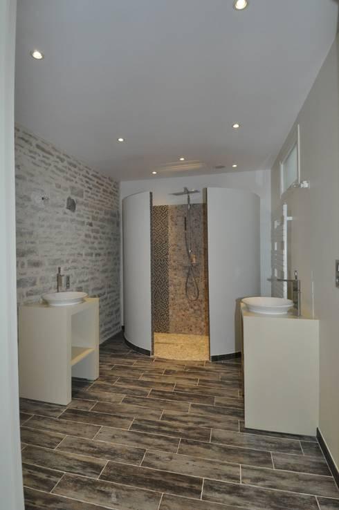 projet salle de douche:  de style  par  Architecte d'Intérieur Paul Jourdain CFAI