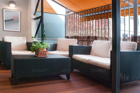 Loft de nueva creación: Terrazas de estilo  de Torres Estudio Arquitectura Interior