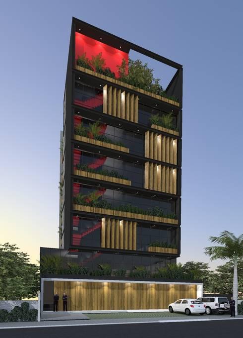 Edificio Comercial: Edifícios comerciais  por ZAAV Arquitetura