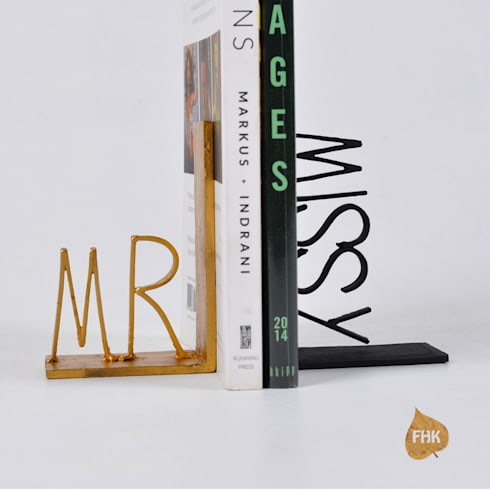 Mr & Missy Bookends: eclectic Study/office by The House of Folklore