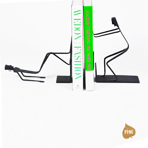 STOP! Bookends: modern Study/office by The House of Folklore
