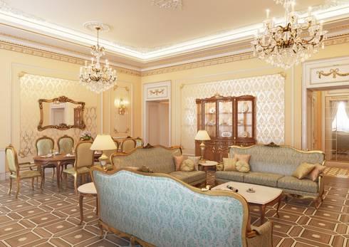 Гостиная:  в . Автор – Архитектор Николай Бахтинов