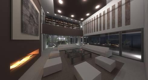 VIVIENDAS: Salones de estilo moderno de ELEMENT-OS. Arquitectura, Interiorismo, Urbanismo