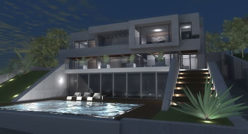 VIVIENDAS: Casas de estilo moderno de ELEMENT-OS. Arquitectura, Interiorismo, Urbanismo