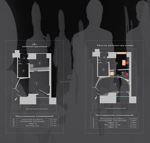 План Кассового вестибюля Филармонии джазовой музыки Санкт-Петербург До/После:  в . Автор – DesignPortrait®