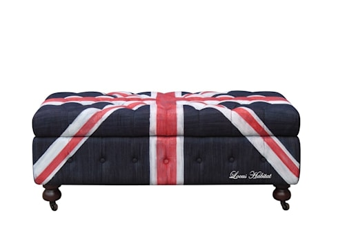 Chesterfield Ottoman (Union Jack Series): modern Living room by Locus Habitat