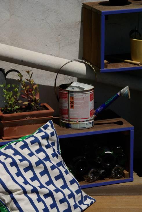 Terrasse urbaine / Toits de Marseille: Terrasse de style  par a.Calu Paysagiste concepteur