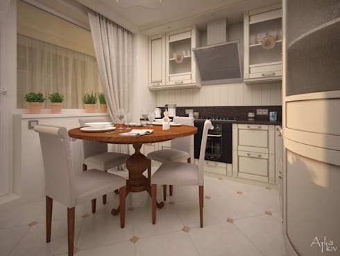Nikolina Gora: Кухни в . Автор – Alfia Ilkiv Interior Designer