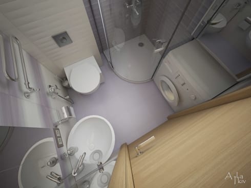 Lubercy: Ванные комнаты в . Автор – Alfia Ilkiv Interior Designer