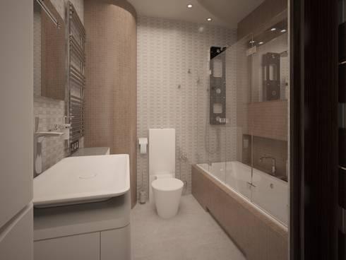 Pavshino: Ванные комнаты в . Автор – Alfia Ilkiv Interior Designer