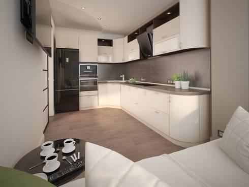 Pavshino: Кухни в . Автор – Alfia Ilkiv Interior Designer
