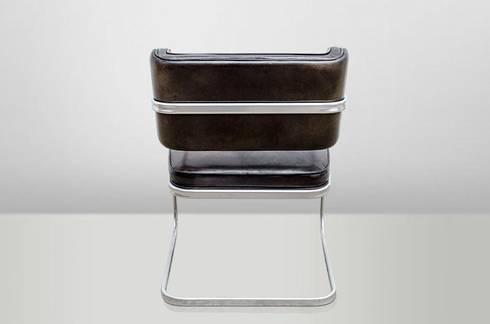 Freischwinger Alu Und Vintage Leder. Moderner Freischwinger Stuhl ...