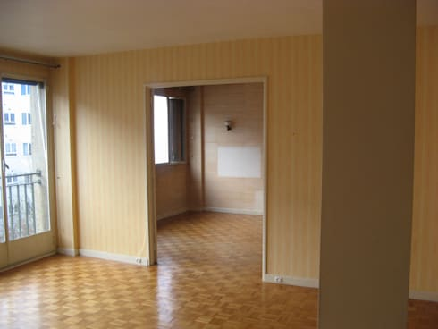 un appartement des ann es 70 revu et corrig par espaces d co homify. Black Bedroom Furniture Sets. Home Design Ideas