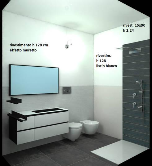Ristrutturazione bagni a Casamassima: Bagno in stile in stile Minimalista di Ristruttura Felice