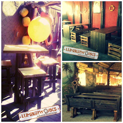 Madera Reutilizada: Cocina de estilo  por Lumberworks