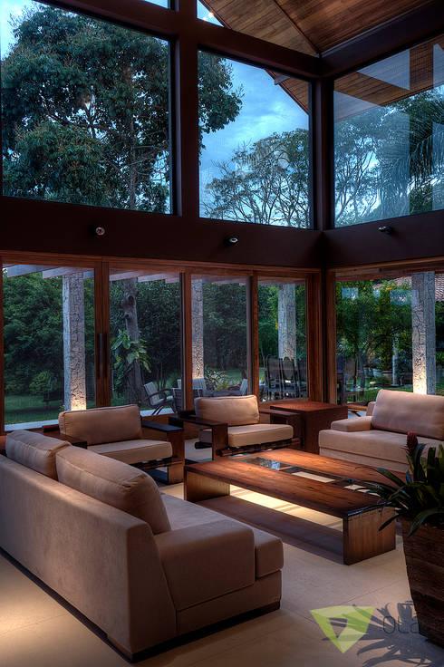 Salas / recibidores de estilo  por Olaa Arquitetos