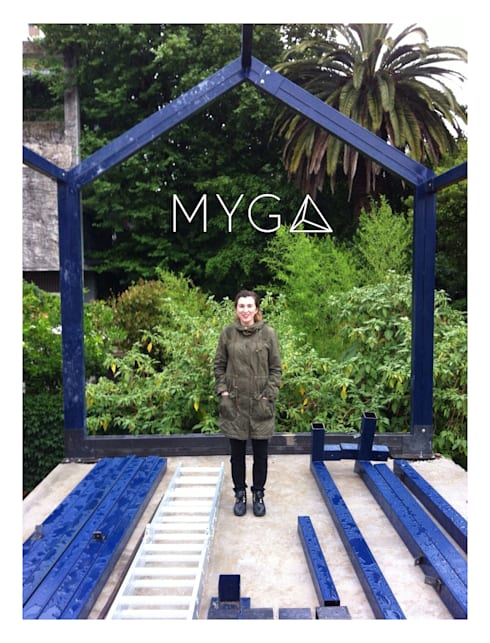 CASA FOTOMÁTICA: Casas de estilo moderno por ESTUDIO MYGA