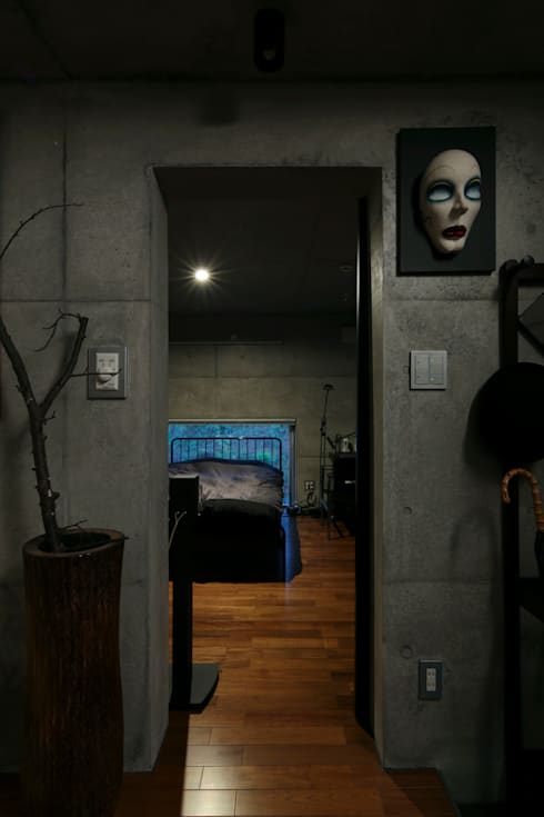 box house: 髙岡建築研究室が手掛けた寝室です。