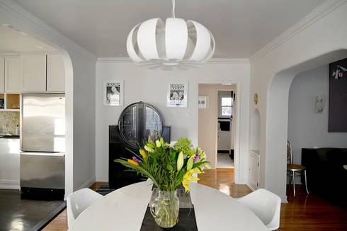 Rejuvenation Project, Los Angeles CA 2014: Comedores de estilo ecléctico por Erika Winters® Design