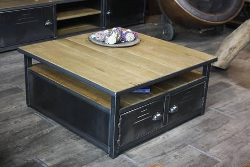 Nos tables basses de style industriel by micheli design - Table basse metal industriel ...