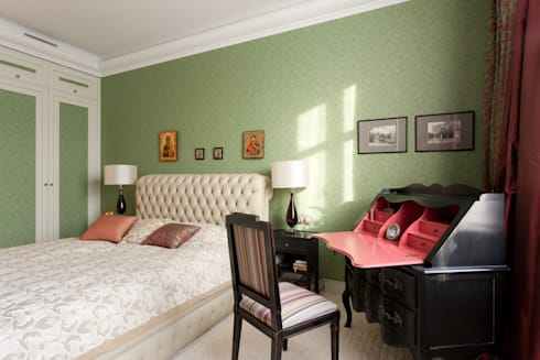 Квартира на набережной.: Спальни в . Автор – А-Дизайн