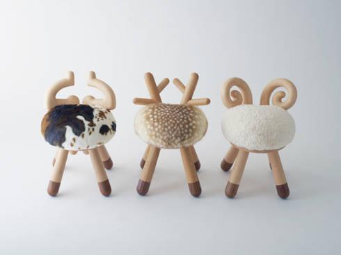 bambi chair / sheep chair / cow chair: kamina&Cが手掛けた子供部屋です。