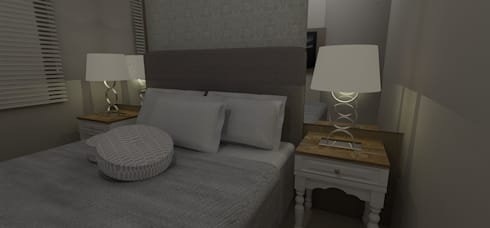 Dormitório Casal: Quartos  por RS Design Studio
