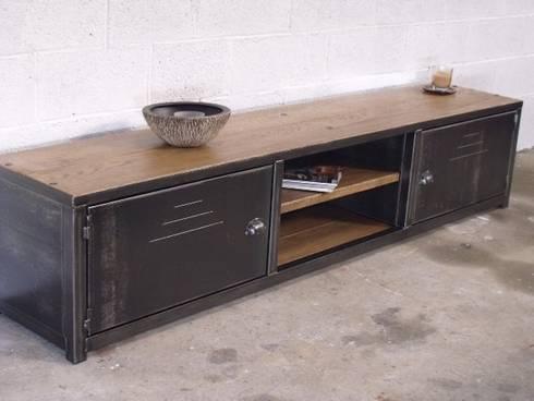 Nos meubles TV de style industriel par MICHELI Design | homify