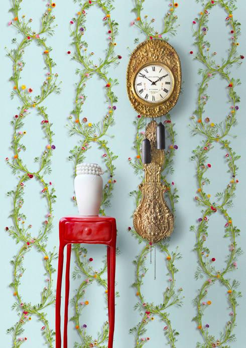 Wallpaper Ranunculus Blue: landelijke Eetkamer door Snijder&CO
