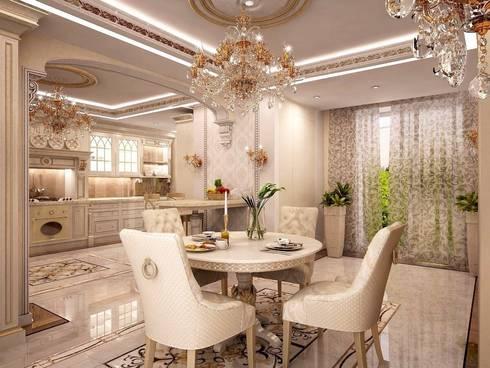 Роскошь классических интерьеров: Столовые комнаты в . Автор – Ksana Shkinch Architect