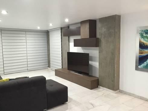 estar t.v: Salas multimedia de estilo moderno por Arki3d
