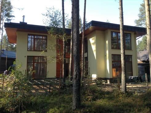 Модерн под Райта в Белоострове:  в . Автор – АРХ студия Антона Никитина