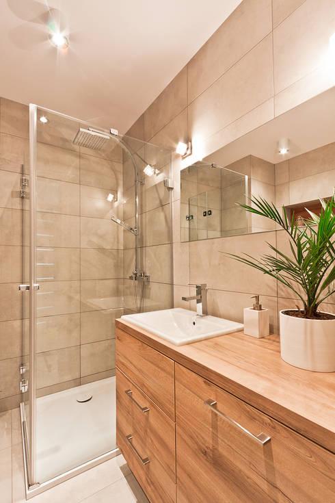 łazienka: styl , w kategorii Łazienka zaprojektowany przez ap. studio architektoniczne Aurelia Palczewska-Dreszler