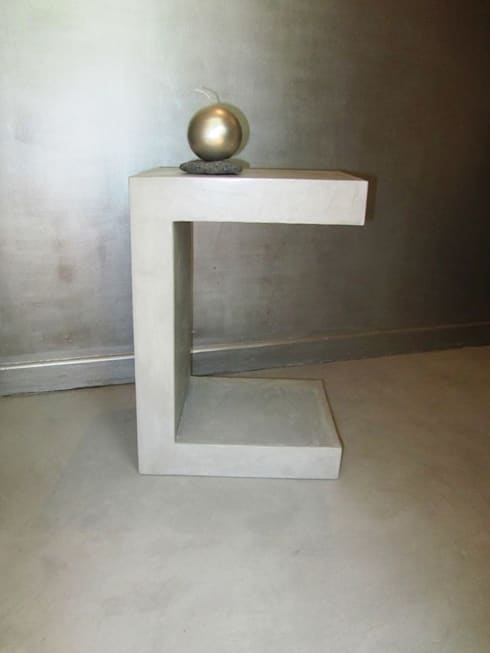creatrice de mobilier en beton cire par catherine pendanx homify. Black Bedroom Furniture Sets. Home Design Ideas