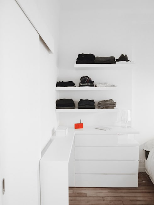 Kleedkamer door Thibaudeau Architecte