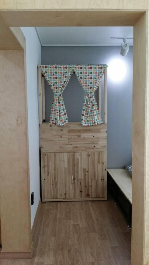 주택 리모델링: 해밀건축사사무소의  침실