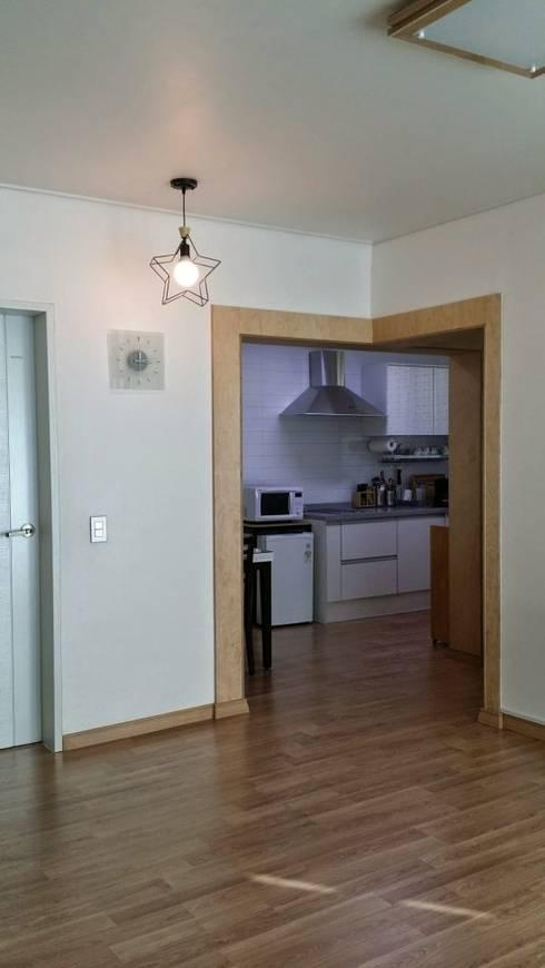 주택 리모델링: 해밀건축사사무소의  다이닝 룸