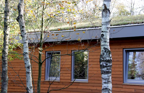 woonhuis in Uden: scandinavische Huizen door mickers architectuur