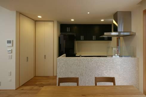 東金町の家【House Higashikanamachi】: Nieda Architectsが手掛けたキッチンです。