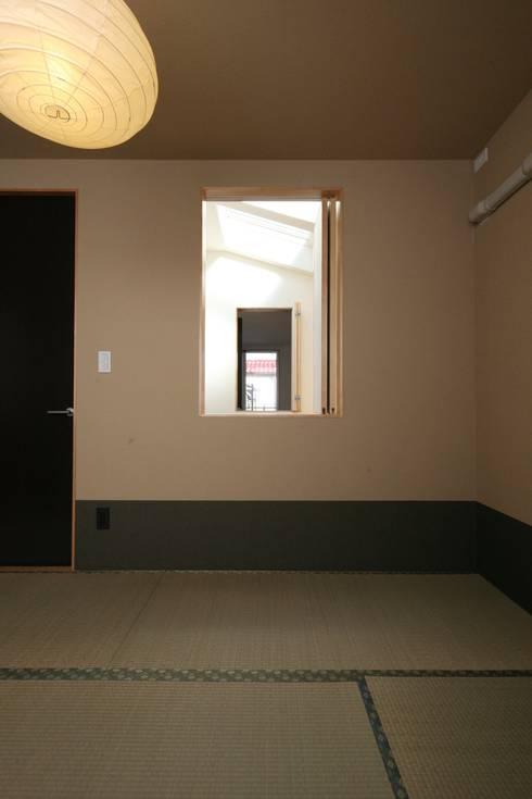 東金町の家【House Higashikanamachi】: Nieda Architectsが手掛けた和室です。