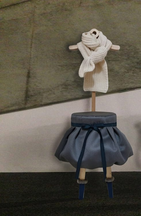 Dress up stool: Studio KANALI의  거실