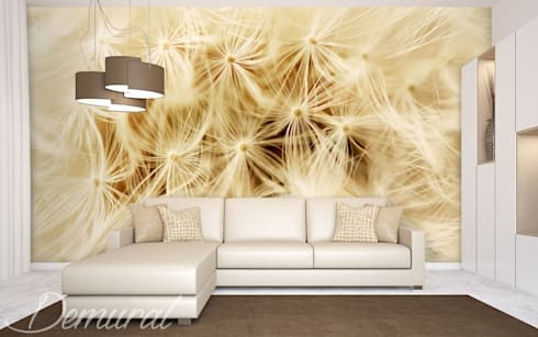 Photo wallpapers in living room by Demural   homify