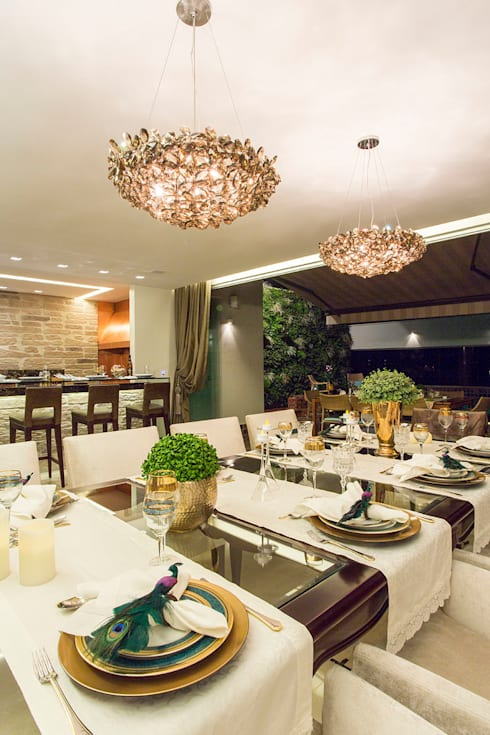 SALA DE JANTAR: Salas de jantar modernas por Studio Karla Oliveira