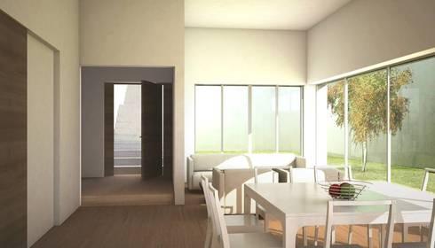 Amanali I: Comedores de estilo moderno por REA + m3 Taller de Arquitectura