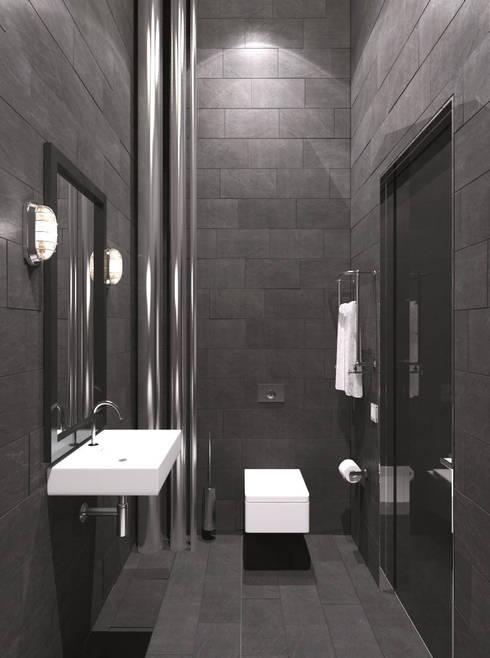 алкохаус: Ванные комнаты в . Автор – Архитектурное бюро и дизайн студия 'Линия 8'