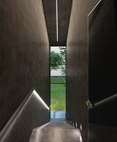алкохаус: Коридор и прихожая в . Автор – Архитектурное бюро и дизайн студия 'Линия 8'