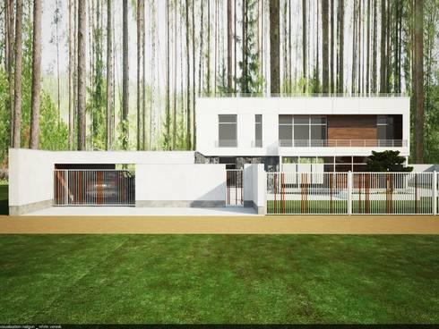 главный фасад: Дома в . Автор – студия дизайна Наталии Голубевой