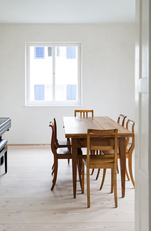 Alte Bäckerei wird zum Wohnhaus: landhausstil Esszimmer von pur natur