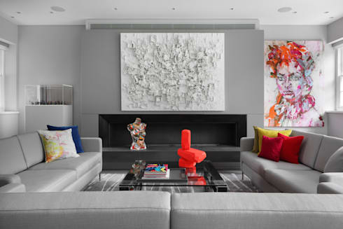 Hamilton Terrace: eclectic Living room by KSR Architects
