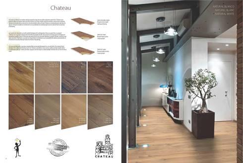 Chateau: Paredes y suelos de estilo clásico de Esco suelos de madera